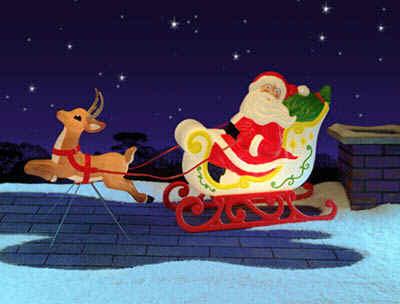 Christmas Decorations - Grand Venture Ltd Santa Sleigh - Sled ...